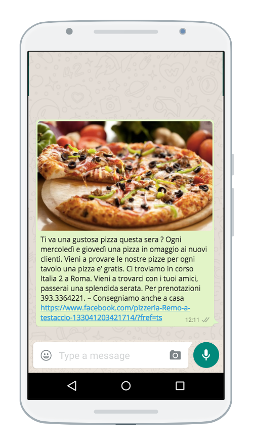 WhatsApp v pizzeria 500